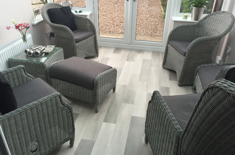 Grey Laminate Effect Vinyl Flooring