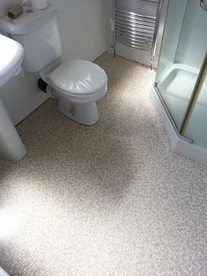 Mosaic Vinyl Bathroom Flooring