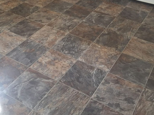 Slate Effect Vinyl Kitchen Flooring in Handforth, Cheshire