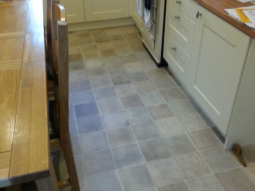 Tile Effect Vinyl Kitchen Flooring