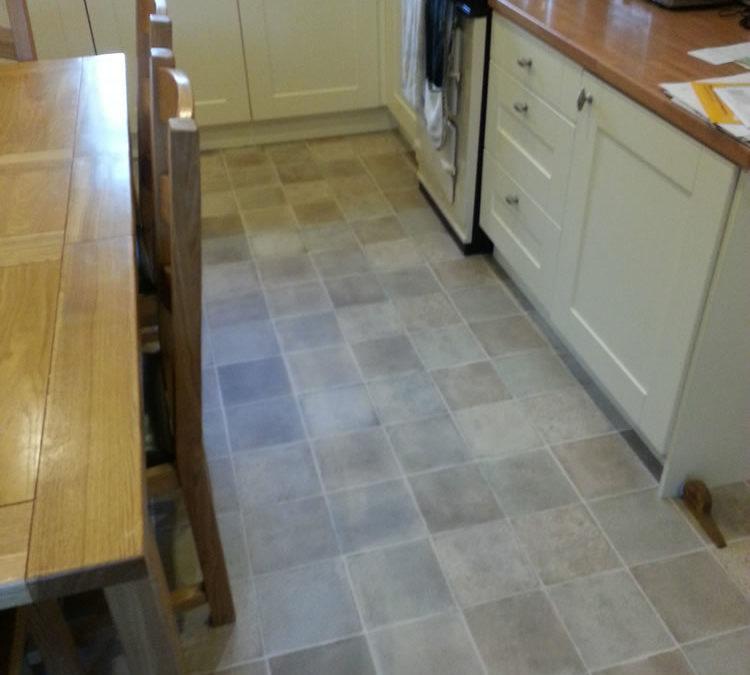 Tile Effect Vinyl Kitchen Flooring