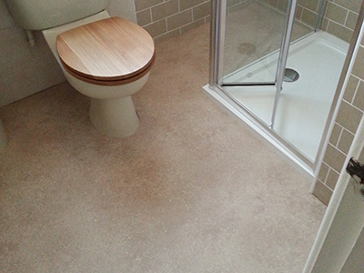 Cushioned Bathroom Vinyl Flooring