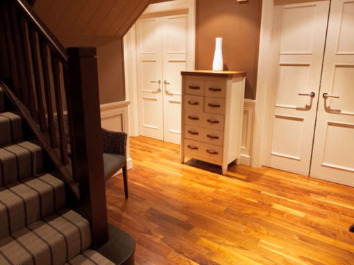 Wood Effect Laminate Flooring in Hallway